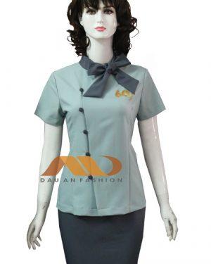 Đồng phục nhân viên váy màu xám xanh AS0149