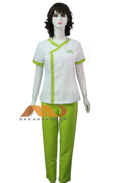 Đồng phục spa xanh chuối qs0107