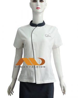 Đồng phục nhân viên áo tay ngắn cổ trụ AS0037