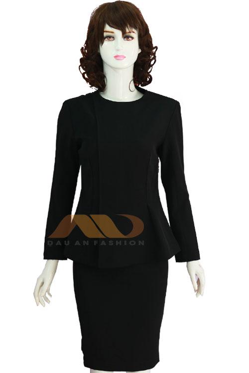 Đồng phục nhân viên váy đen tay dài AS0083