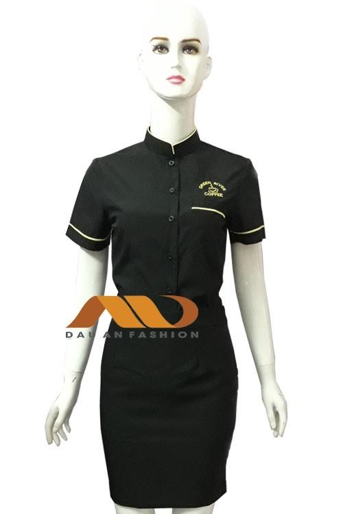 Đồng phục nhân viên áo tay ngắn màu đen