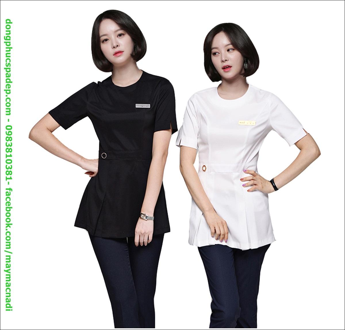 2 màu đen trắng đơn giản, vừa sang trọng lại dễ dàng tôn dáng người mặc