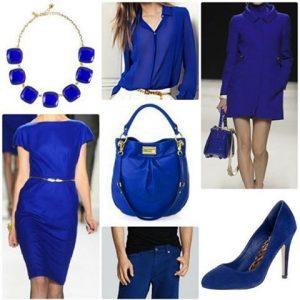 màu xanh dương trong ngành thời trang