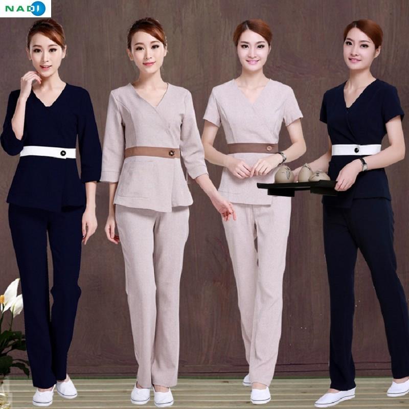 Khi thiết kế đồng phục spa đẹp hãy đặc biệt chú ý đến việc chọn chất liệu