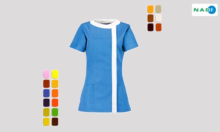 Thiết kế mẫu cho hình ảnh đồng phục nhân viên spa