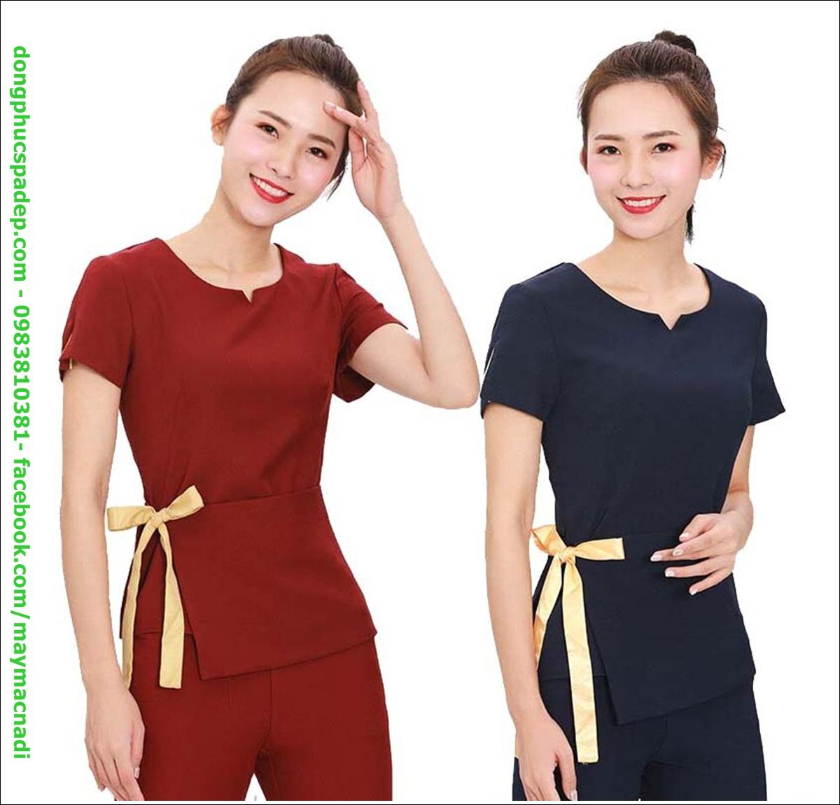 Đa số các mẫu quần áo đồng phục ngành làm đẹp thường hướng đến sự tiện lợi khi làm việc